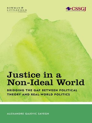 cover image of Justice in a Non-Ideal World