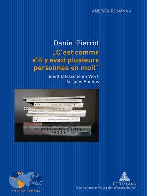 cover image of « Cest comme sil y avait plusieurs personnes en moi ! »