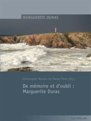 cover image of De mémoire et doubli