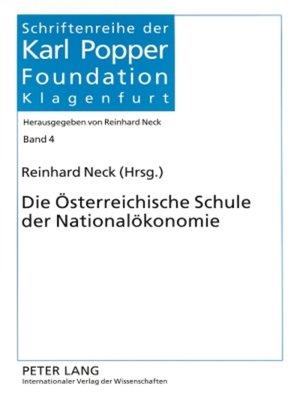 cover image of Die Oesterreichische Schule der Nationaloekonomie