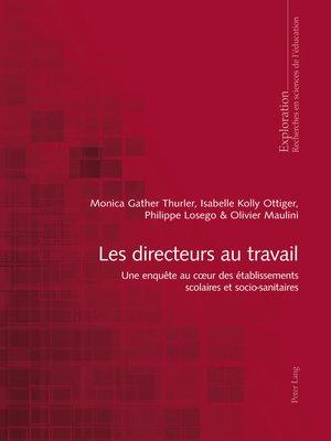 cover image of Les directeurs au travail