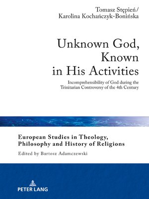 cover image of Unknown God, Known in His Activities