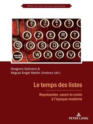 cover image of Le temps des listes