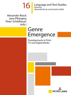 cover image of Genre Emergence