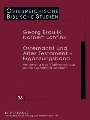 cover image of Osternacht und Altes Testament  Ergaenzungsband