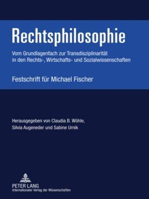 cover image of Rechtsphilosophie