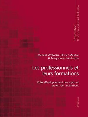 cover image of Les professionnels et leurs formations