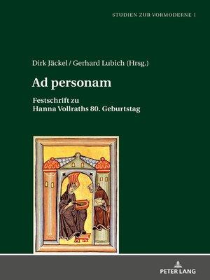 cover image of Ad personam
