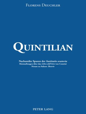 cover image of Quintilian