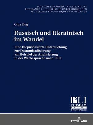 cover image of Russisch und Ukrainisch im Wandel