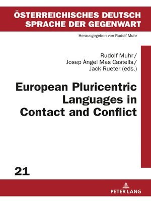 cover image of European Pluricentric Languages in Contact and Conflict