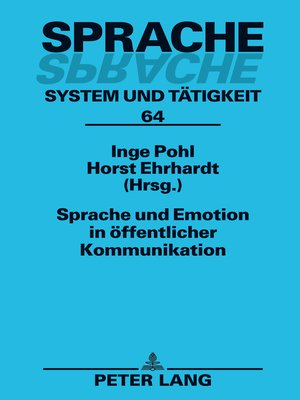 cover image of Sprache und Emotion in öffentlicher Kommunikation