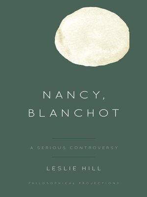 cover image of Nancy, Blanchot