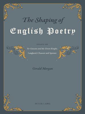 cover image of The Shaping of English Poetry