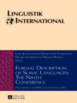 cover image of Formal Description of Slavic Languages