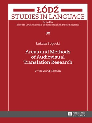 cover image of Areas and Methods of Audiovisual Translation Research
