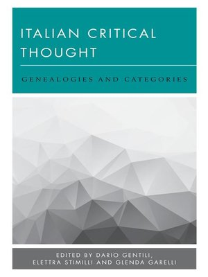 cover image of Italian Critical Thought