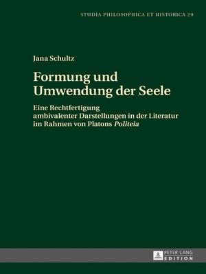 cover image of Formung und Umwendung der Seele