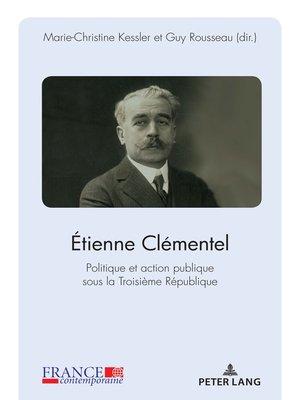 cover image of Étienne Clémentel (1864-1936)