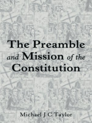 cover image of The Preamble and Mission of the Constitution