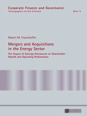 cover image of Mergers and Acquisitions in the Energy Sector