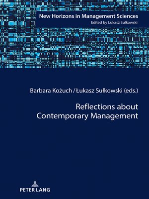 cover image of Reflections about Contemporary Management