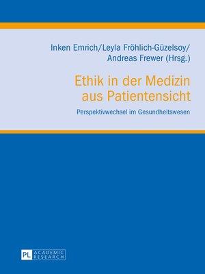 cover image of Ethik in der Medizin aus Patientensicht