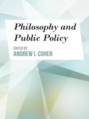 cover image of Philosophy and Public Policy