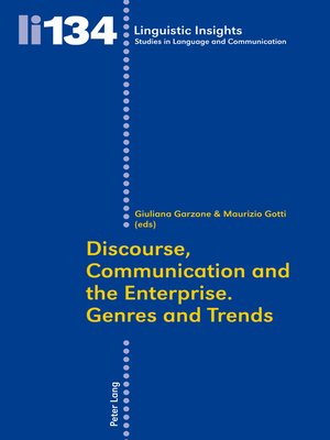 cover image of Discourse, Communication and the Enterprise.- Genres and Trends