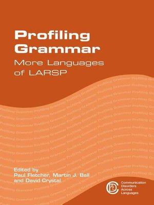 cover image of Profiling Grammar