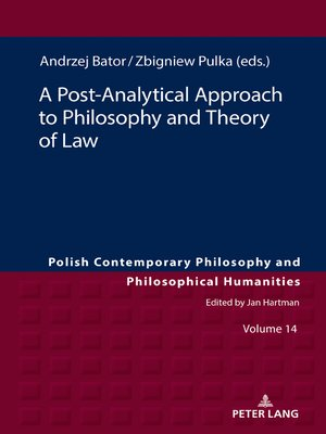 cover image of A Post-Analytical Approach to Philosophy and Theory of Law