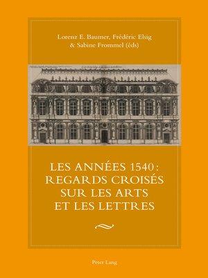 cover image of Les années 1540