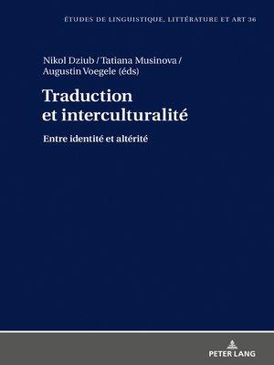 cover image of Traduction et interculturalité