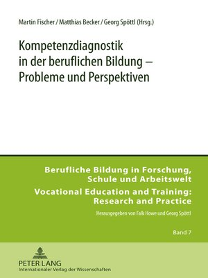 cover image of Kompetenzdiagnostik in der beruflichen Bildung  Probleme und Perspektiven