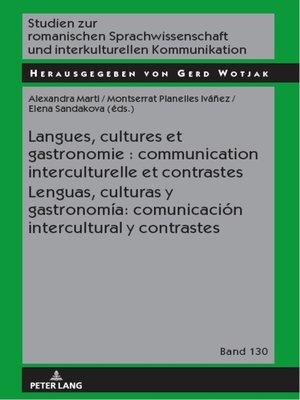 cover image of Langues, cultures et gastronomie
