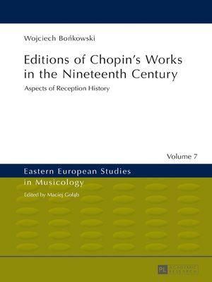 cover image of Editions of Chopins Works in the Nineteenth Century