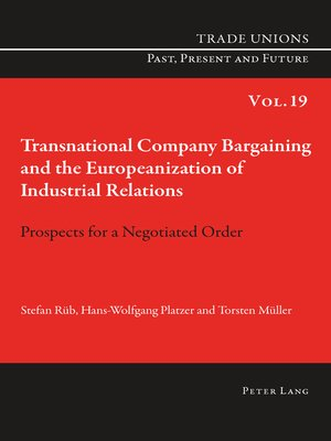 cover image of Transnational Company Bargaining and the Europeanization of Industrial Relations