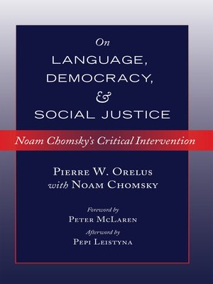 cover image of On Language, Democracy, and Social Justice