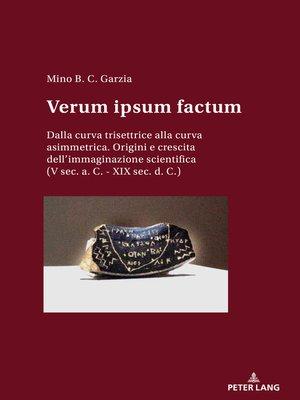 cover image of Verum ipsum factum