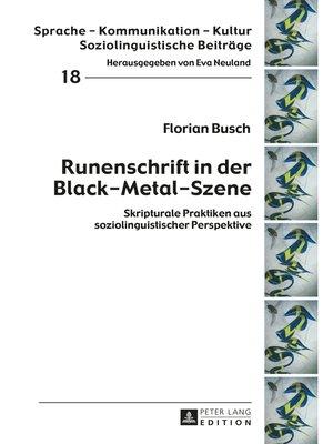 cover image of Runenschrift in der Black-Metal-Szene
