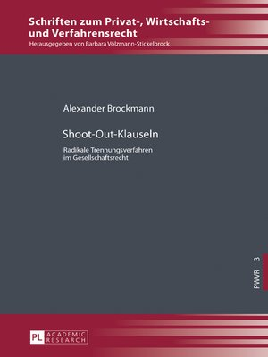 cover image of Shoot-Out-Klauseln