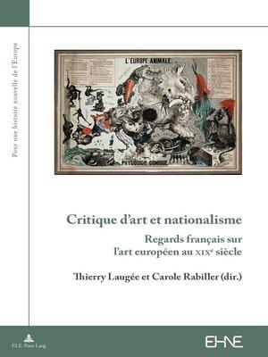 cover image of Critique dart et nationalisme