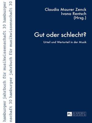 cover image of Gut oder schlecht?
