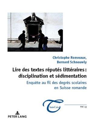 cover image of Lire des textes réputés littéraires