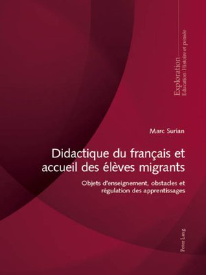 cover image of Didactique du français et accueil des élèves migrants