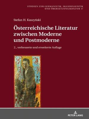 cover image of Oesterreichische Literatur zwischen Moderne und Postmoderne