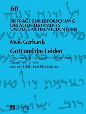 cover image of Gott und das Leiden