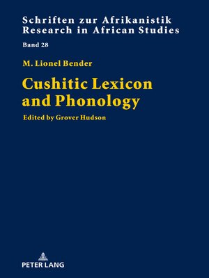 cover image of Cushitic Lexicon and Phonology
