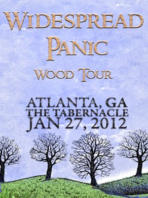cover image of Widespread Panic: Wood Tour - Atlanta, GA The Tabernacle January 27, 2012