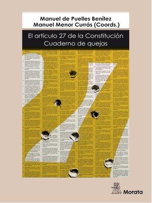 cover image of El artículo 27 de la Constitución